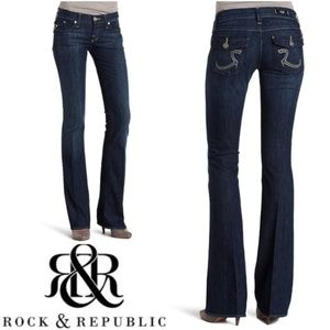 Rock & Republic Kurt Embellished Bootcut Jean 28